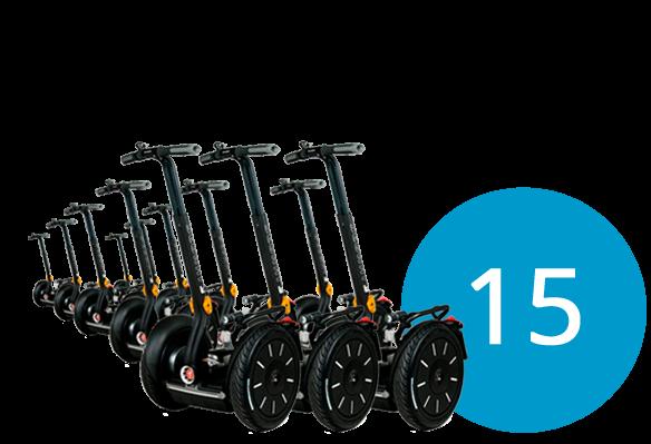 15 Segways und 3 Instruktoren buchen bei segway-boeblingen.de