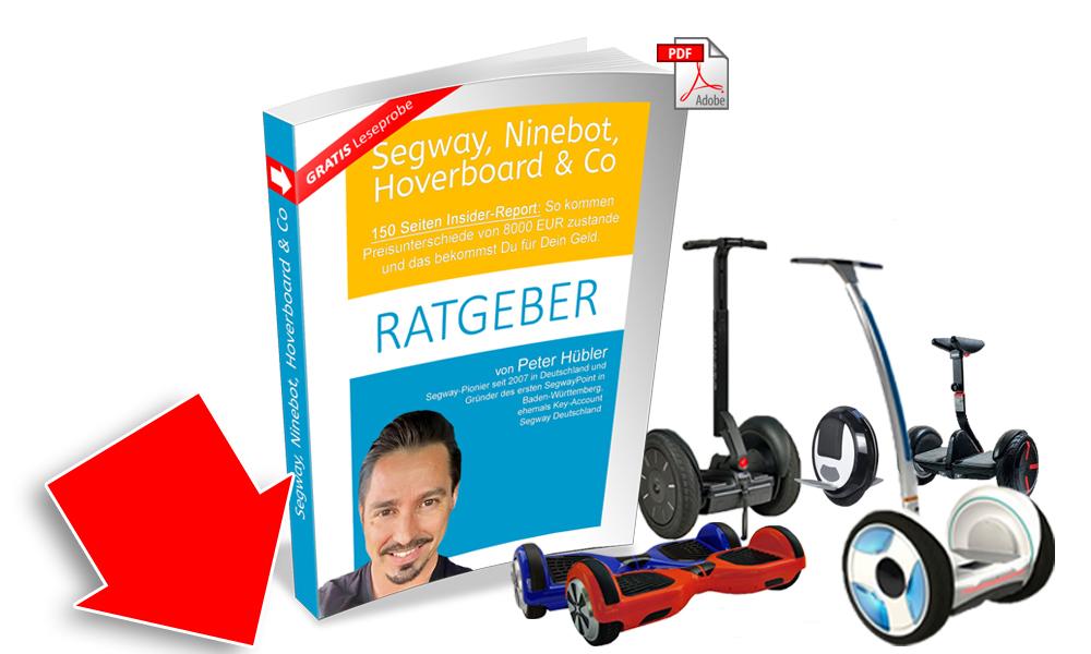 Kostenfreier Ratgeber zu Segway, Ninbeo, Hoverboard hier downloaden