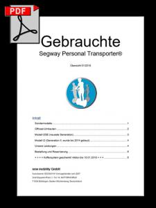 Liste gebrauchter Segways hier zum Download