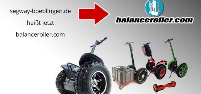 """segway-boeblingen.de"" ist jetzt ""balanceroller.com"""