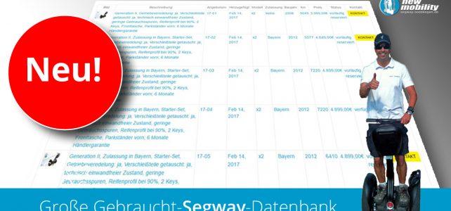 Großer Segway-Gebraucht-Markt online